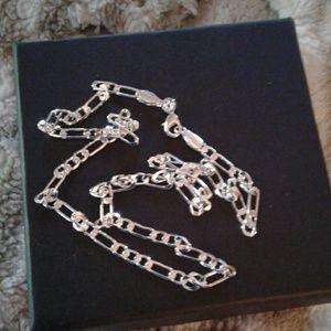 Sterling Silver  Figaro Italian  Chain
